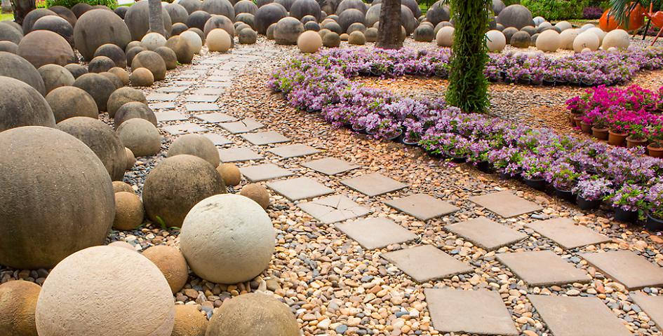 каменистые сады устройство и работы под ключ